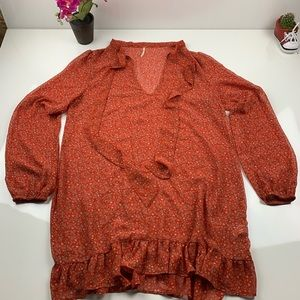 Free People Sheer Top size Large